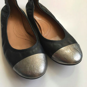 """Tahari Leather """"Carly"""" Ballet Flats"""